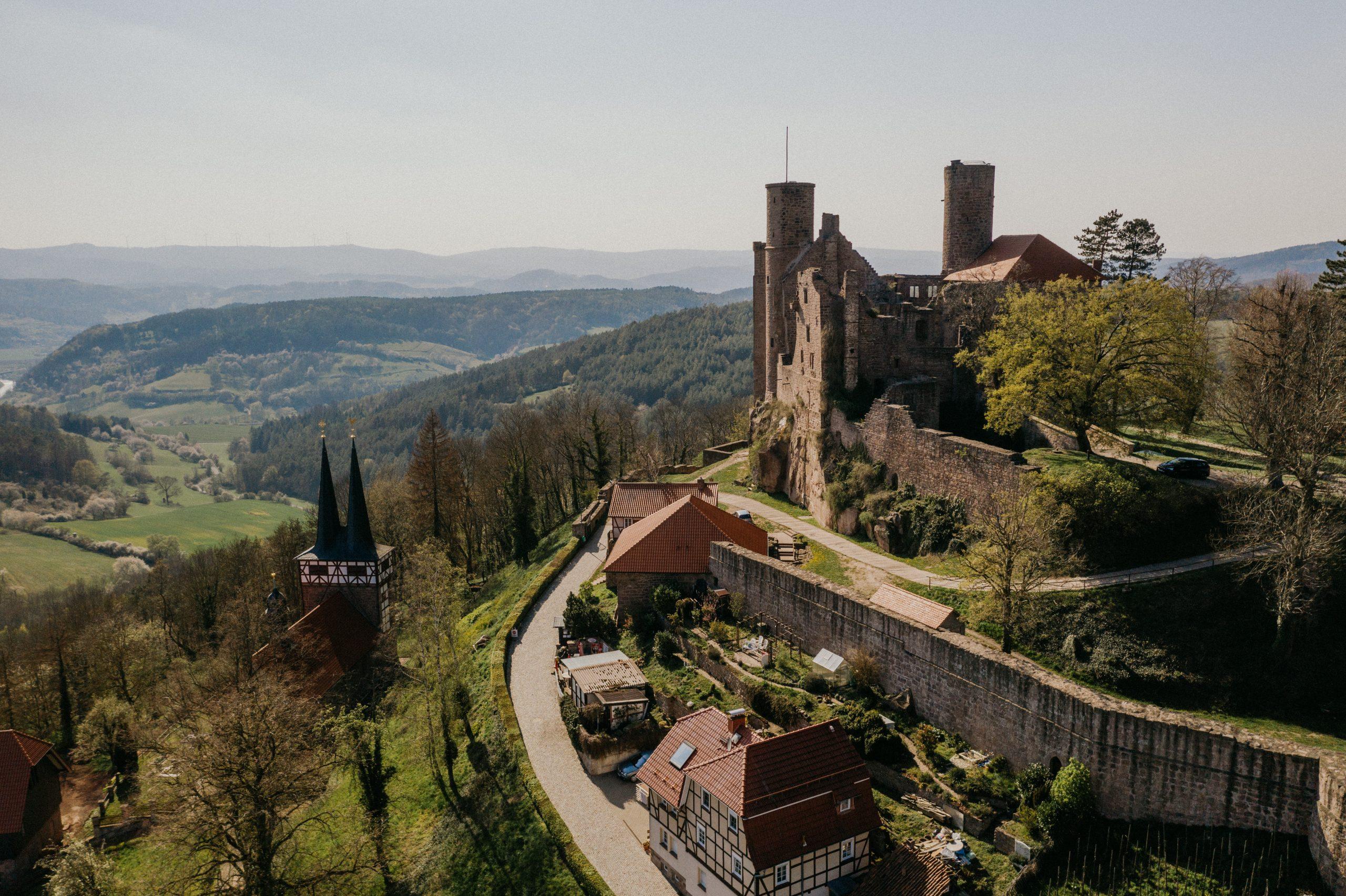 Drohnenfotografie Burg Hanstein